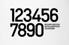BVD — Beckers Scotte #beckers #big #scotte #paint #bucket #bvd #numbers #type #grotesk