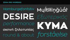 Zona Pro #font #type #typeface