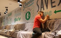 Holiday Inn Mural | Tobias Hall #wall #mural #typography