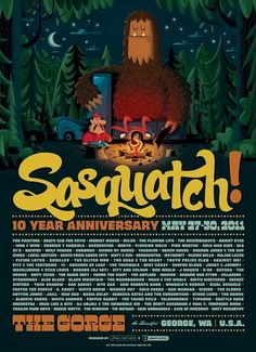 Shop: New: Sasquatch! Music Festival #sasquatch #invisible #poster #creature