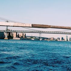 Tumblr #ny #water #nyc #bridge #blue #brooklyn