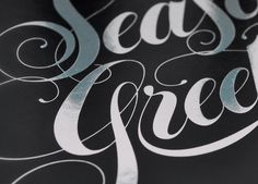 Tellurian – Season's Greetings Luke Lucas – Typographer | Graphic Designer | Art Director #lettering #lucas #luke