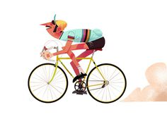 racing bike #mary #maxime #illustration #blog #bike
