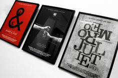 Romeo & Juliet Poster Series #printmaking #design #photography #poster #singapore #typography