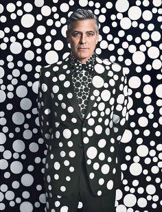 George Clooney by Yayoi Kusama for W