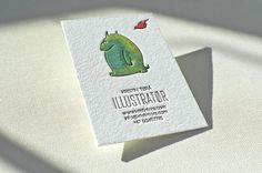 Hand painted #letterpress business card