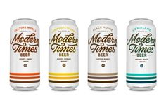 lovely package modern times beer 1 #packaging #beer #clean #typography