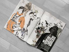 Star Wars illustrations for music magazine Rolling Stone Germany by Philipp Zurmöhle – www.philippzm.com #starwars #illustration #rolling