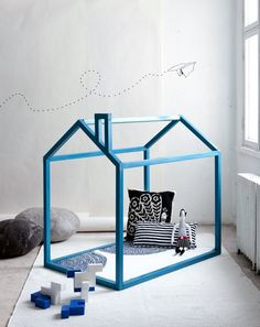 aprilandmayMINI #interior #lines #house #doll #dollhouse #blue #toy