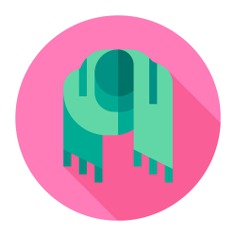 See more icon inspiration related to garment, scarfs, scarf, winter, fashion and clothes on Flaticon.