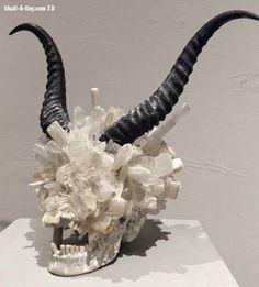 Skull-A-Day #sculpture #devil #horn #art #skull