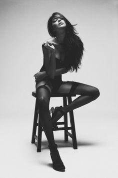 i'm not wordy #chair #lingerie #white #black