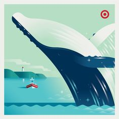 Target: City Love Allan Peters #whale #illustration #target