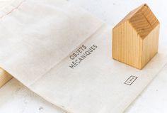 Objets Mécaniques by Nouvelle Administration #bag #graphic design #branding