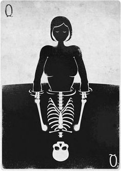 THE SEA IS MY SONG #skeleton #white #black #illustration #and