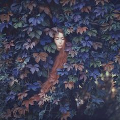 New Surreal Portraits from Oleg Oprisco #girl #photography #portrait #cold #flowers #long hair