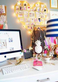 Pearls & Pastries – Office Tour #inspiration #home office #workspace