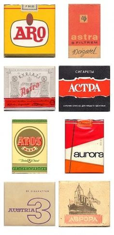 Awesome Vintage Cigarette Package Designs #packaging #cigarette #vintage