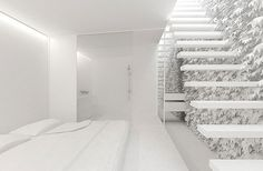 All white interior design, just amazing :) #white #architecture #minimal #living