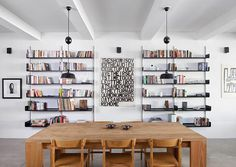 The Richardson / Dondoe Loft by Workshop for Construction #interior #shelving #wood #table #typography