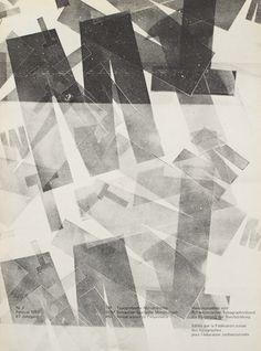 Typografische Monatsblätter. Die Fachzeitschrift für Typografie, Schrift und visuelle Kommunikation.   Cover from 1968 issue 2   Hans Ferd #layout #swiss #typography