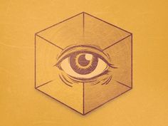 Dribbble - No Religion by Von Haggen. #illustration #god #cube #satan #providence eye