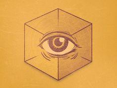 Dribbble - No Religion by Von Haggen. #illustration #god #cube #satan #providence eye