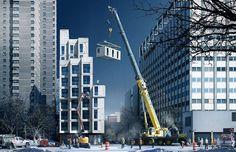 Mikrolägenheter monteras upp i New York - Inflyttning i sommar | Tjock / Hemmet #small #architect #living #compact #space #york #new