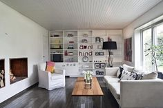 We want: white slatted ceilings at KITKA design toronto #living #room