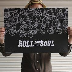 Roll for the Soul | Design.org #illustration #bike #poster