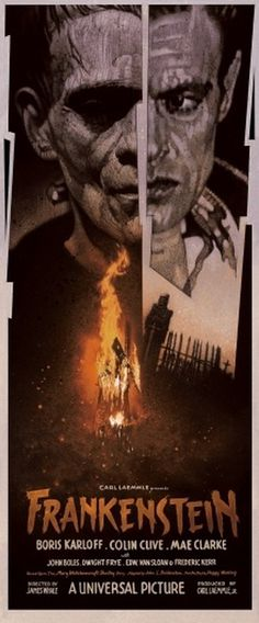 Mondo: The Blog #movie #frankenstein #drew #poster #struzan