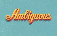 Ambiguous by Matt Redway #typo