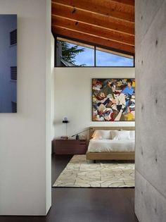 Olson Kundig Architects - Projects - Laurelhurst Residence #modern #architecture #interior #corten #tom kundig #fir plywood ceiling
