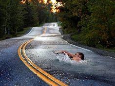 Jay Mug — Swimming Through Road #photography