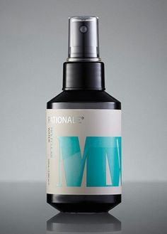 Molecular Water | Rationale Skin Care #bottle #packaging #fractal #pompadour #cosmetics #rationale #type #colour
