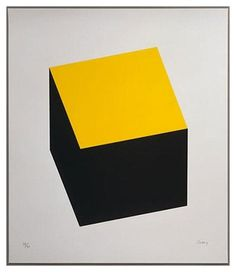 Yellow Trends | Clark Rae #yellow #black #cube #modern art