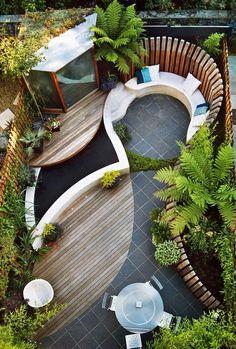Contemporary garden design Ideas and Tips - www.homeworlddesign. com 2 #garden design #modern garden