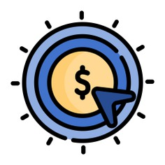 See more icon inspiration related to seo and web, pay per click, dollar symbol, payment, coin, cursor, business, money and mouse on Flaticon.