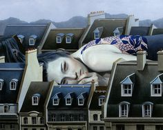 Preview: Tran Nguyen and Jason Wheatley at Roq La Rue | Hi Fructose Magazine #city #house #girl #landscape