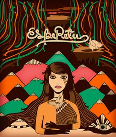 cara de liebre #girl #design #brown #wold #poster #mountains