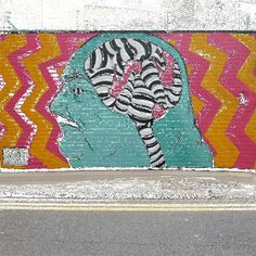 CJWHO ™ (Animated GIF Wall and Building Art by INSA INSA...) #animation #graffito #design #illustration #gif #art #street
