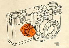 A History Of Cameras on Behance #35mm #cameras #contax #vintage #poster #film