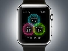 #applewatch #circle #clean #crossfit #faster #fitness #interface #motion #run #sport #widget #workout