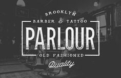 Brooklyn barber & Tattoo Parlour #logo design #typography #vintage #barber #parlour #tattoo