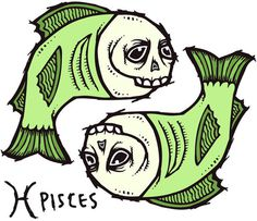 Thrasher Skateboard Magazine   Zodiac Signs of Skateboarding #zodiac #fish #illustration #signs #skateboard #pisces #sieben #michael