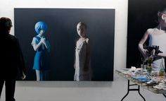 Gottfried Helnwein | WORKS | Mixed Media on Canvas | Helnwein working on #installation #helmwein #studio #painting #art #artist