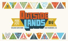 Outside Lands 2012 | Andrew Holder #event #colourful #illustration #typography