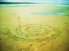 Sandspiral land art