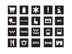 Navigation pictograms - Norrskog Visual Communications Agency