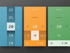Timer App UI by Javi Pérez.